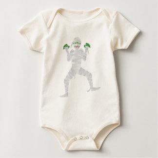 Halloween Mummy with Green Fingers Illustration Baby Bodysuit