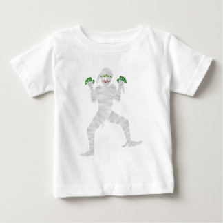 Halloween Mummy with Green Fingers Illustration Baby T-Shirt
