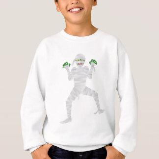 Halloween Mummy with Green Fingers Illustration Sweatshirt