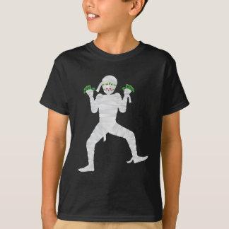 Halloween Mummy with Green Fingers Illustration T-Shirt