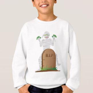 Halloween Mummy with Tombstone Illustration Sweatshirt