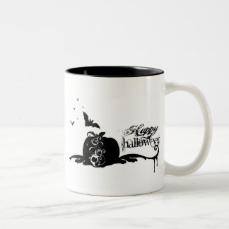 HALLOWEEN MURAL Two-Tone COFFEE MUG