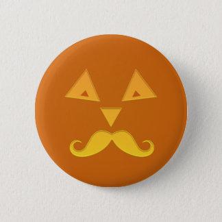 Halloween Mustache Pumpkin buttons