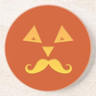 Halloween Mustache Pumpkin coaster