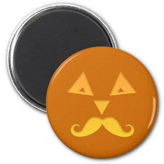 Halloween Mustache Pumpkin magnets