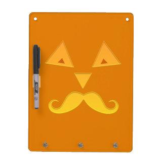 Halloween Mustache Pumpkin message boards Dry Erase Board