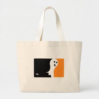 Halloween MVP Ghost Logo Large Tote Bag