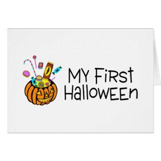 Halloween My First Halloween (Pumpkin Candy) Greeting Card