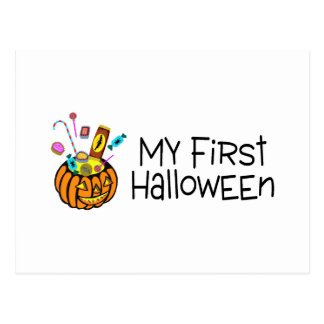 Halloween My First Halloween (Pumpkin Candy) Postcard