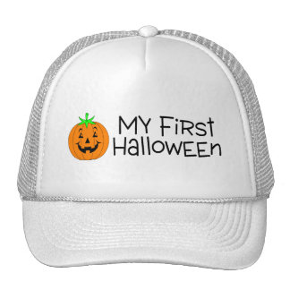 Halloween My First Halloween (Pumpkin) Trucker Hat