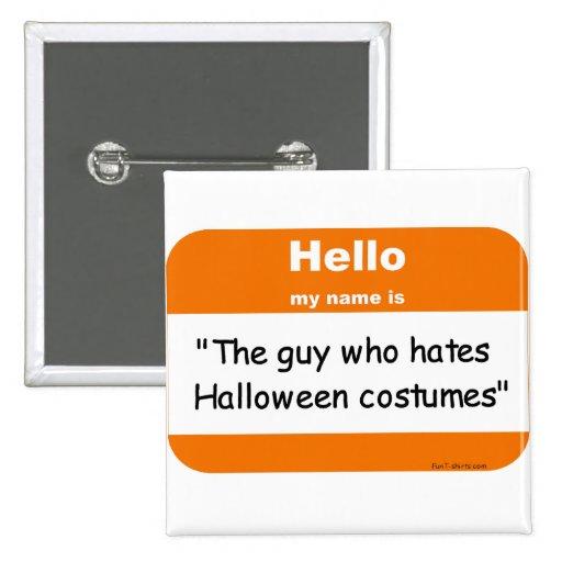 Halloween nametag button