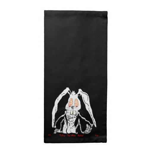 Halloween napkin white rabbit decorative zazzle for Halloween cloth napkins
