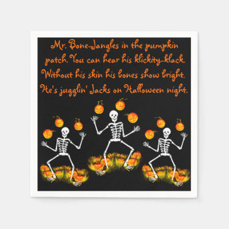 "Halloween napkins ""Mr. bone-Jangles"" Disposable Napkins"