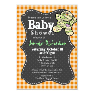 Halloween Neutral Baby Shower Invitation