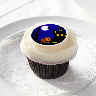 Halloween Night Edible Frosting Rounds