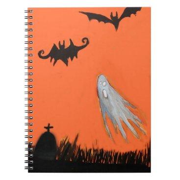Halloween Themed Halloween Night Ghost Spooky Notebook