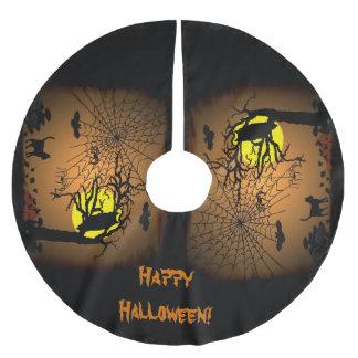 Halloween Night , Happy Halloween! Brushed Polyester Tree Skirt