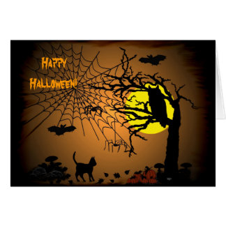 Halloween Night , Happy Halloween! Card