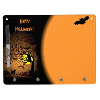 Halloween Night , Happy Halloween ! Dry Erase Board With Keychain Holder
