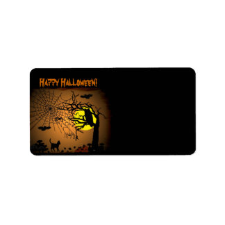 Halloween Night , Happy Halloween! Label