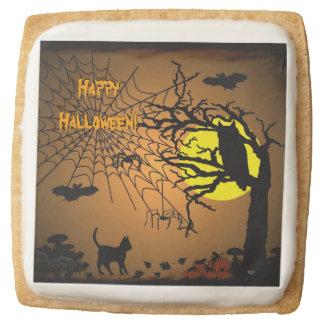 Halloween Night , Happy Halloween! Square Shortbread Cookie