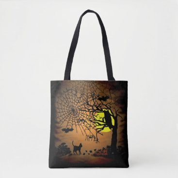 Halloween Themed Halloween Night , Happy Halloween ! Tote Bag