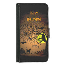 Halloween Night , Happy Halloween ! Wallet Phone Case For Samsung Galaxy S5