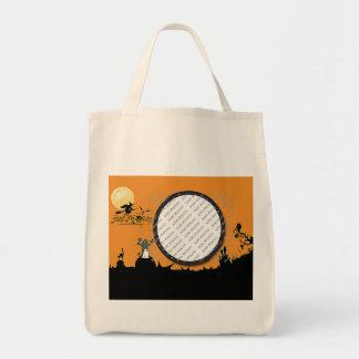 Halloween Night in Orange Glow Add Your Photo Tote Bag