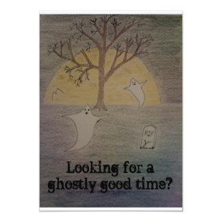 Halloween Night 5x7 Paper Invitation Card
