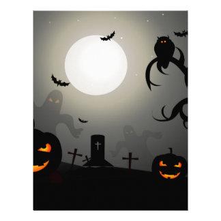 Halloween night letterhead