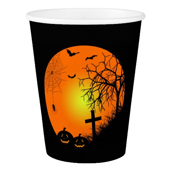 Halloween night paper cup
