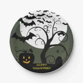 Halloween night paper plates