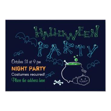 Halloween Themed Halloween night party card