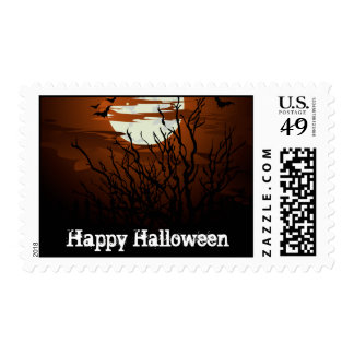 Halloween Night Postage Stamp