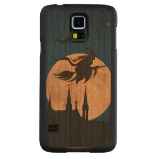 Halloween Night Scene Carved Cherry Galaxy S5 Slim Case
