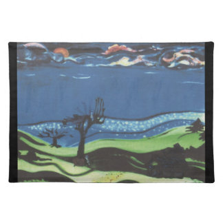 Halloween Night Scene Cloth Placemat