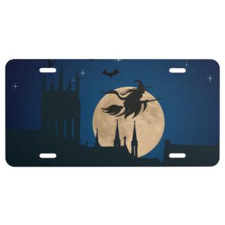 Halloween Night Scene License Plate