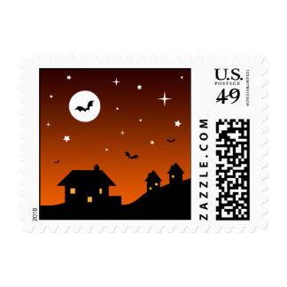 Halloween Night Sky Silhouette Stamps