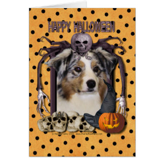 Halloween Nightmare - Australian Shepherd Card