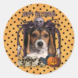 Halloween Nightmare - Beagle Puppy Round Sticker