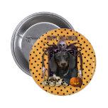 Halloween Nightmare - Dachshund - Winston 2 Inch Round Button