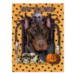 Halloween Nightmare - Doberman - Rocky Postcard
