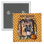 Halloween Nightmare - German Shepherd - Chance Pinback Buttons