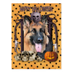 Halloween Nightmare - German Shepherd - Chance Postcard