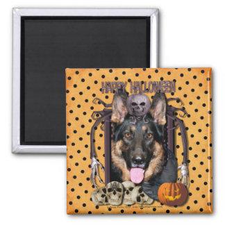 Halloween Nightmare - German Shepherd - Kuno Fridge Magnet