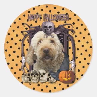 Halloween Nightmare - Goldendoodle Stickers