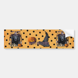 Halloween Nightmare - Labrador - Black - Gage Bumper Sticker