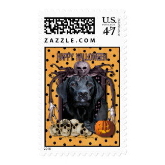 Halloween Nightmare - Labrador - Black - Gage Postage Stamp