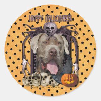 Halloween Nightmare - Mastiff - Snoop Round Stickers