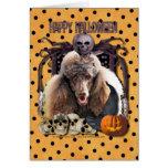 Halloween Nightmare - Poodle - Chocolate Card